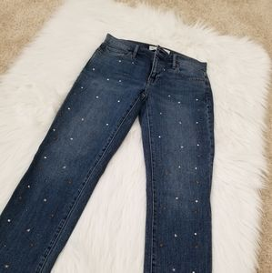 Gap best girlfriend jean with studs embroidered 25